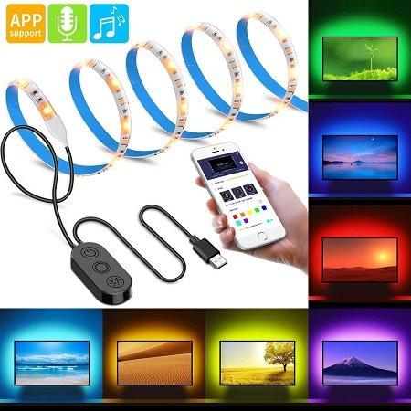 Minger Musik Pro TV 2 Meter LED Streifen mit APP-Steuerung & Mikrofon für 9,85€