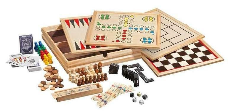 Holz Spielesammlung mit 10 Spielen und Star Wars Karten-Set für 17€ inkl. Versand (statt  25€)