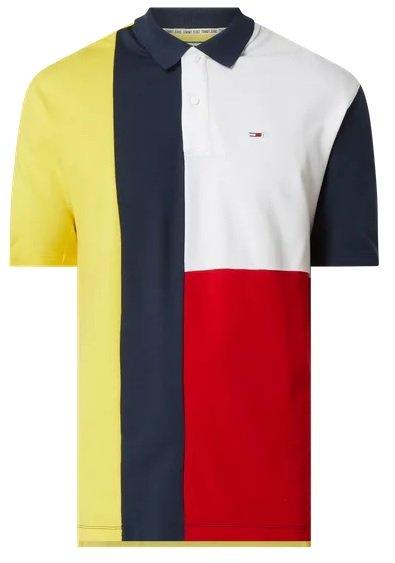 Tommy Jeans Poloshirt im mehrfarbigen Design für 21,24€ inkl. Versand (statt 50€) - M, L, XL