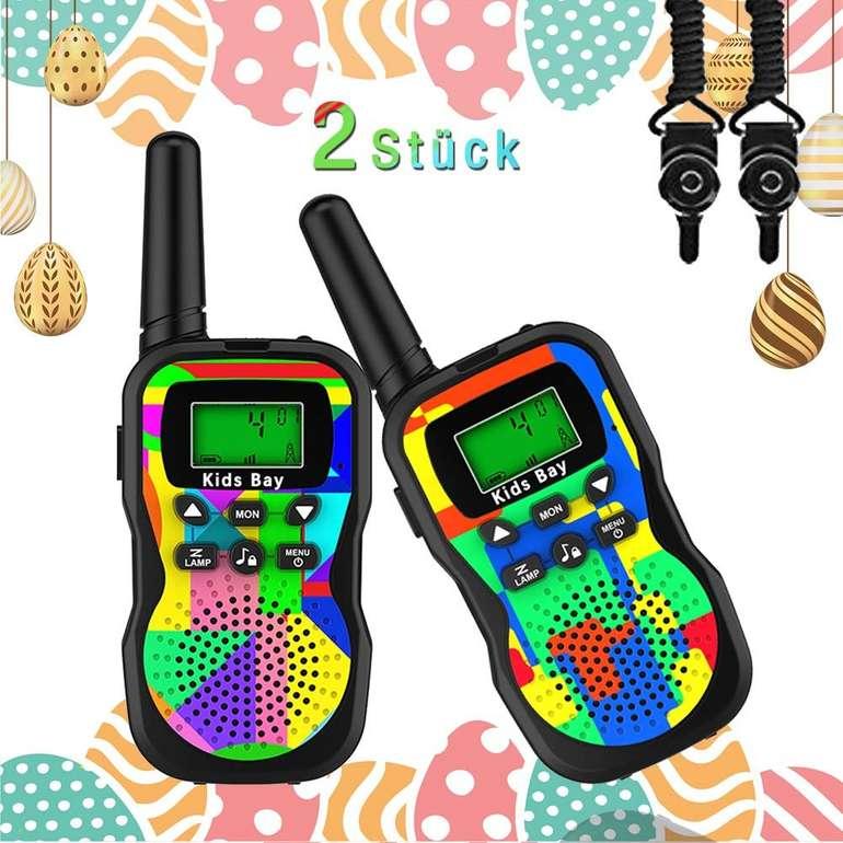 2er Pack Kids Bay Walkie Talkie Funkgeräte (8 Kanäle, bis zu 3 km Reichweite) für 13,99€ inkl. Prime Versand