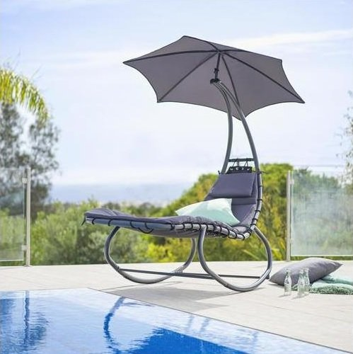 Garten-Relaxliege in Anthrazit/Schwarz für 111,70€ inkl. Versand (statt 144€)