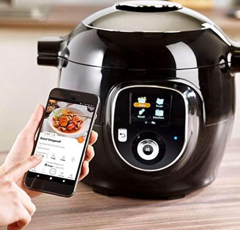 Krups CZ7158 Cook4Me+ Connect Multikocher (1600 W, elektr. Schnellkochtopf, Bluetooth Steuerung) für 155,99€