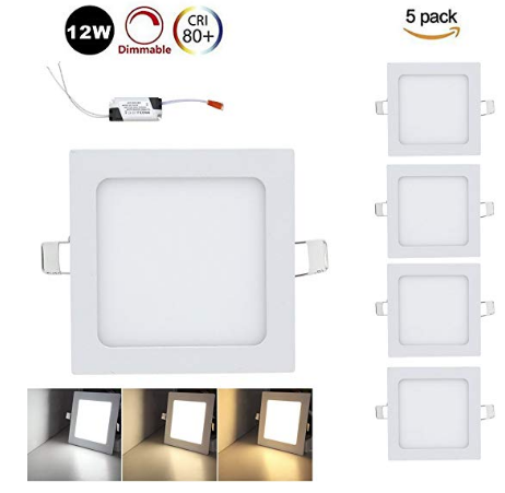 5er Pack Vingo 12W LED Panel (eckig, dimmbar) für 18,19€ inkl. Prime Versand
