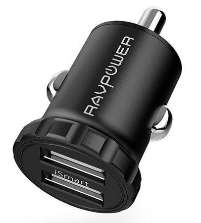 RAVPower Super Mini 2-Port 24W 5V/4,8A USB iSmart Auto Ladegerät für 6,29€