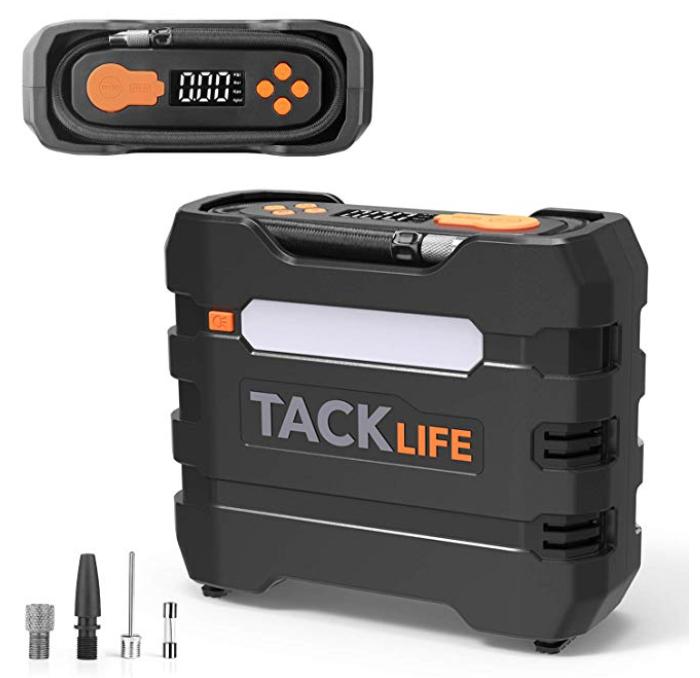 Tacklife ACP1B Auto Luftkompressor + 4 Adapter, Sicherung & Tasche für 18,25€