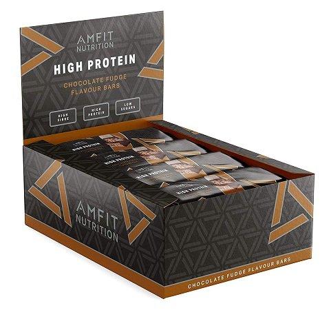 24 Amfit Nutrition Protein-Riegel mit Schokoladen-Fudgegeschmack für 11,57€