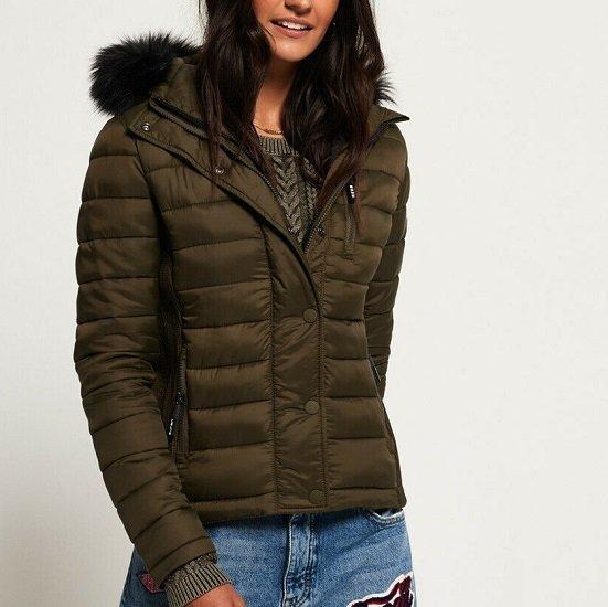 Superdry Fuji Damen-Kapuzenjacke mit Doppelreißverschluss (versch. Farben) für je 49,95€ (statt 90€)