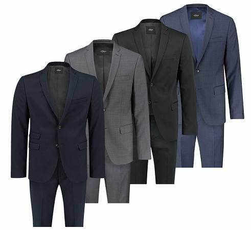 s.Oliver Black Label Herren Anzug - verschiedene Farben für 75,55€ (statt 91€)