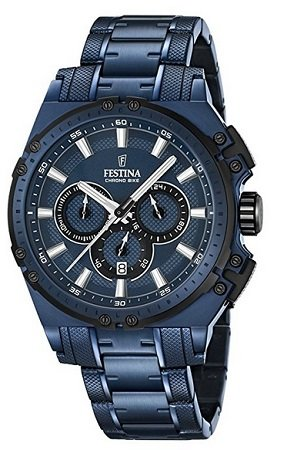 Festina Herren Chronograph F16973/1 mit Edelstahl Armband 149,99€ (statt 339€)