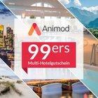 Animod 99ers <mark>Multigutschein</mark> für über 100 Hotels (2 ÜN, 2 Pers.) 85,48€ Ebay Plus