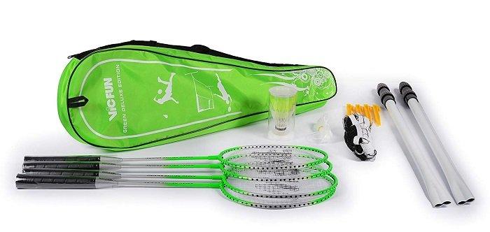 Vicfun Federball-Set mit 4 Schlägern + Netz & Bällen für 11,99€ mit Prime