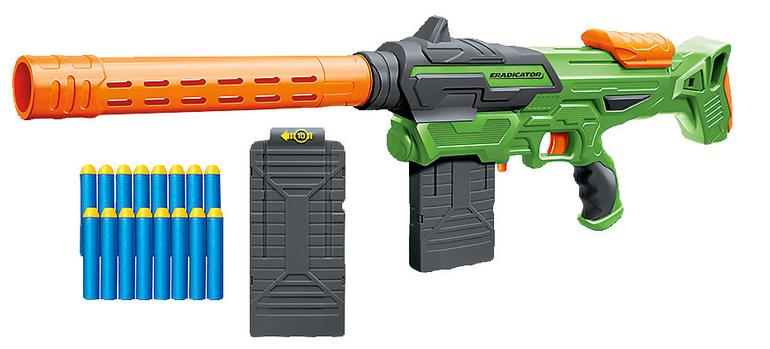 "MyToys: Air Warriors Spielzeug Sale, z.B. Dartblaster ""Eradicator""  für 11,24€"