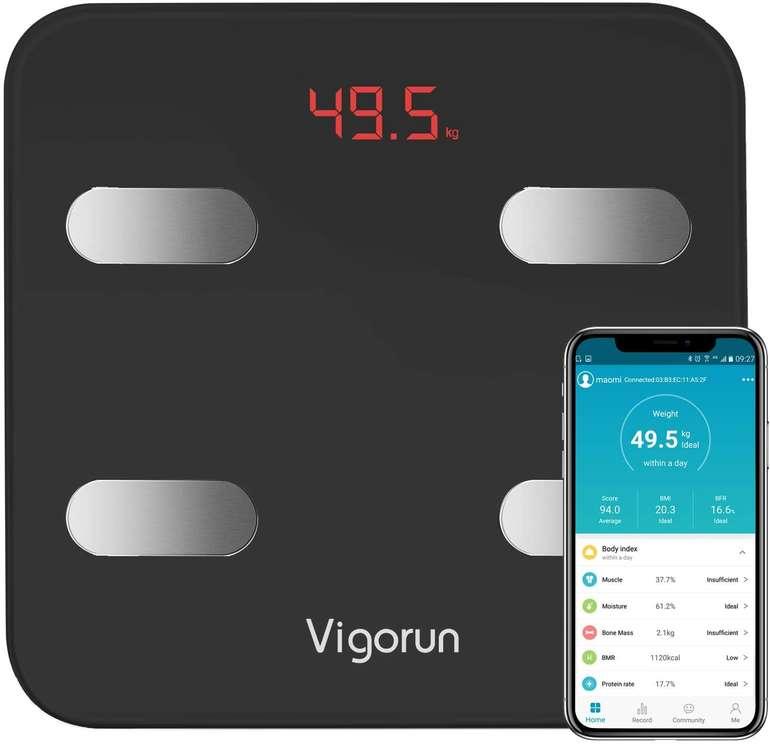Vigorun Bluetooth Körperfettwaage mit App für 17,99€ inkl. Versand (statt 30€)