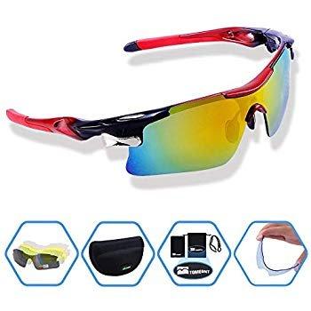 Tomount Sportbrille (5 Wechselgläser, UV Schutz) für 8,99€ (Prime)