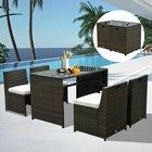 5 tlg. Outsunny Polyrattan Garnitur (Tisch + 4 Stühle) für 279,99€ inkl. VSK