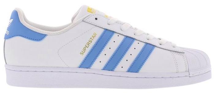 adidas Originals Superstar Sneaker in weiß/blau für 53,99€ (statt 72€)