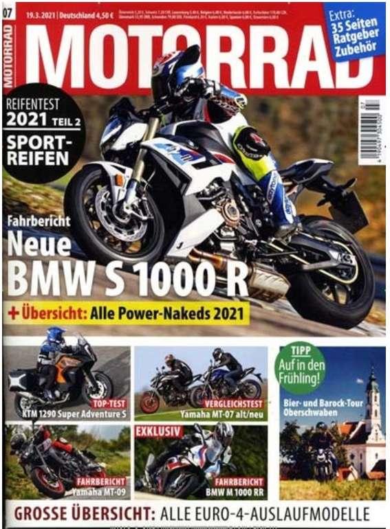 """Jahresabo der Zeitschrift """"Motorrad"""" für 123,70€ + z.B. 85€ Bestchoice Gutschein"""