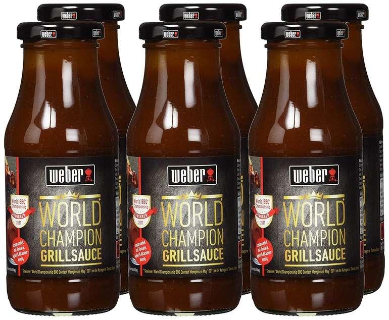 6x Weber World Champion BBQ Grill-Sauce für 6,66€ inkl. Versand (MHD: 28.03.2020)