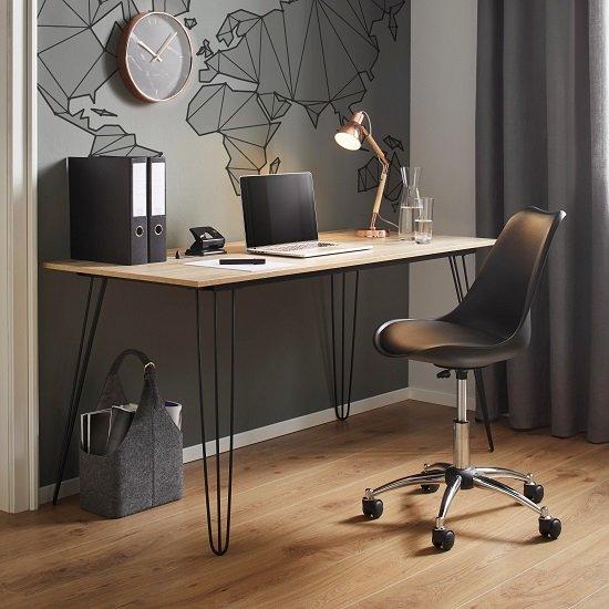 Bessagi Home Schreibtisch Julian (150 x 70cm) in Braun für 73,26€ (statt 129€)
