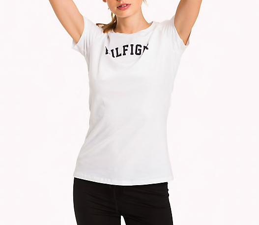 Tommy Hilfiger Damen Logo T-Shirt aus Bio Baumwolle für 14€ (statt 30€)