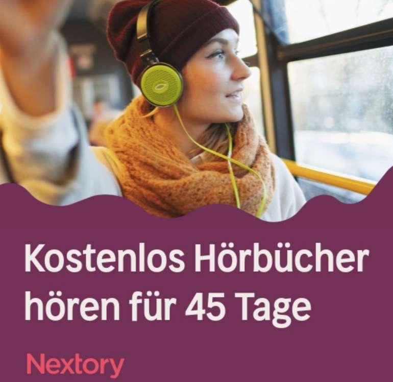 Nextory: Kostenlos Hörbücher hören für 45 Tage