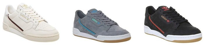 adidas Continental 80s Trainers Sneaker in vielen Farben