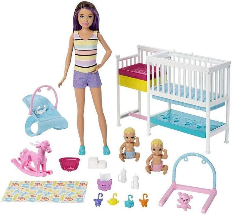 Barbie Skipper Babysitter Kinderzimmer Spielset für 21,43€ inkl. Versand (statt 33€)