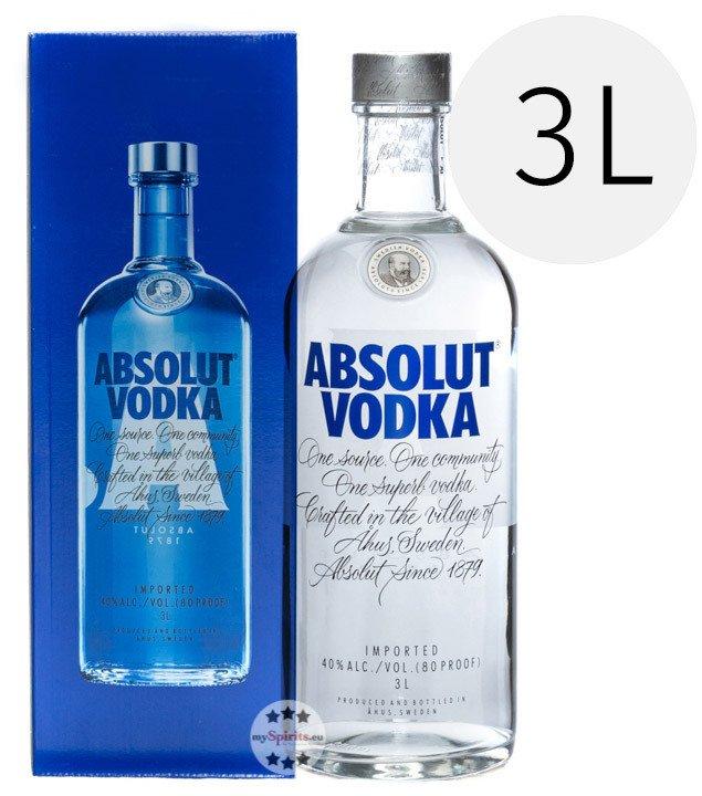 Absolut Vodka Großflasche 3L (40 % Vol.) für 41,40€ (statt 60€) - Mastercard!