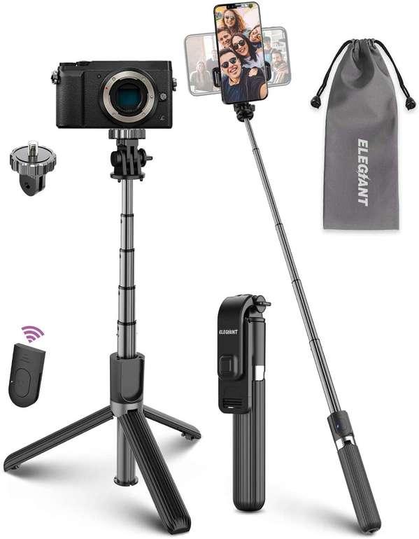 Elegiant 4-in-1 Selfie Stick mit Bluetooth Fernbedienung für 9,74€ inkl. Prime Versand (statt 15€)
