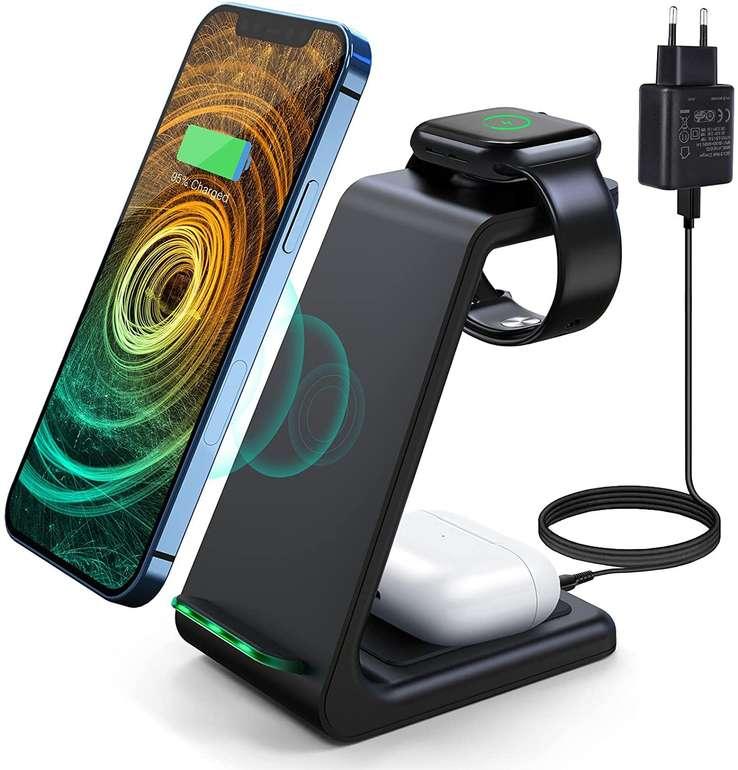 Saferellss 3-in-1 Wireless Charger für 13,49€ inkl. Prime Versand (statt 27€)