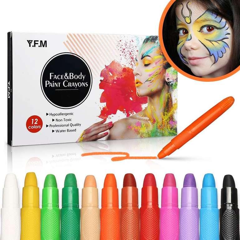 Y.F.M. Schminkstifte Set (12 Farben) für 8,79€ inkl. Prime Versand (statt 16€)