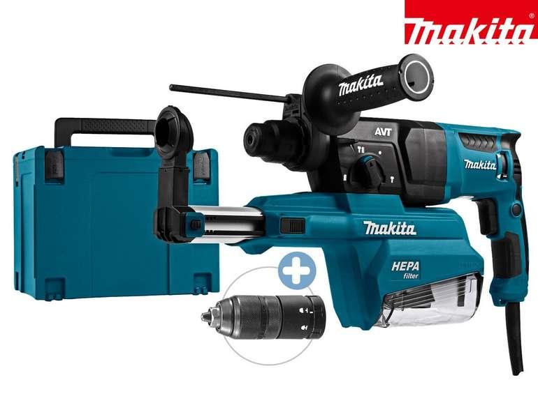 Makita HR2651TJ SDS+ Bohrhammer mit Staubabsaugung (HEPA-Filter) für 185,90€