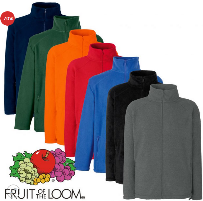 Fruit of the Loom Fleecejacke für 8,88€ + 3,95€ Versand (statt ca. 17€)