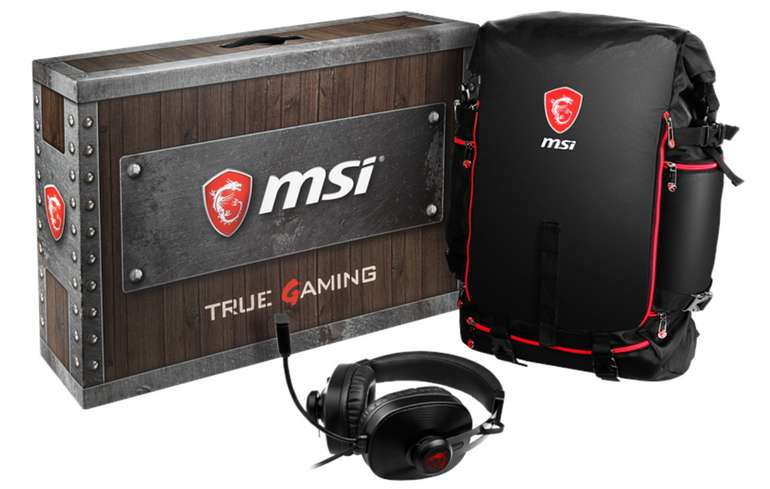 MSI Gaming Laptop Backpack and Headset in schwarz für 23,99€ inkl. Versand (statt 39€)