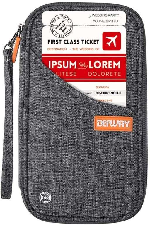 Defway Reisepass RFID Tasche in 6 Farben ab 5,24€ inkl. Prime Versand (statt 10€)