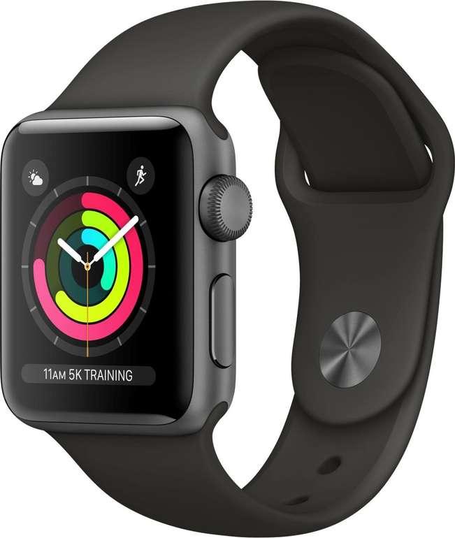 Apple Watch Series 3 (GPS) 38mm Schwarz für 197,91€ inkl. Versand (statt 222€)