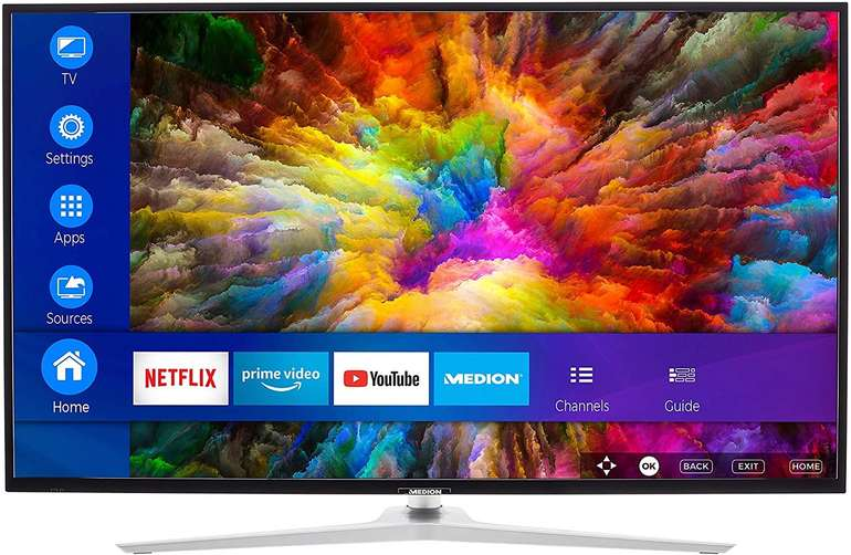 """Medion Life X15532 - 55"""" Smart-TV (Ultra-HD, HDR, Dolby Vision, Micro Dimming, Netflix) für 389,95€"""