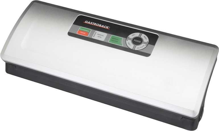 Gastroback Design Vakuumierer Plus (4 bis 0,75 bar, Vakuumierleistung 9 L/Min, 120 Watt) für 34,51€ (statt 72€)