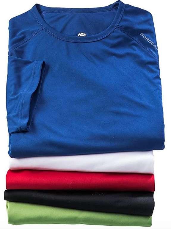 5er Pack Nordcap Funktionsshirts (Mesh-Einsätzen) für 39,99€ (statt 50€) + Rucksack gratis