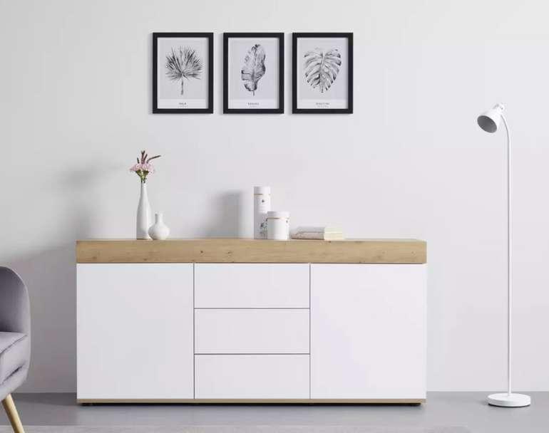 Bessagi Home Sideboard Cara in Weiß/Eichefarben für 244,30€ inkl. Versand (statt 349€)