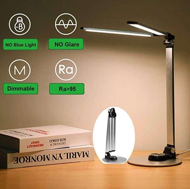 Sunnego LED Schreibtischlampe (dimmbar, USB-Ladeanschluss, Touchsteuerung) für 27,99€ (statt 40€)