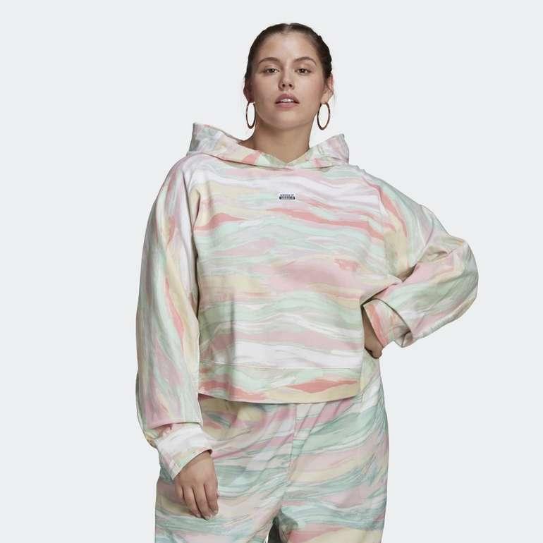 Adidas Originals R.Y.V. Crop Hoodie (große Größen) für 30,39€ inkl. Versand (statt 35€)