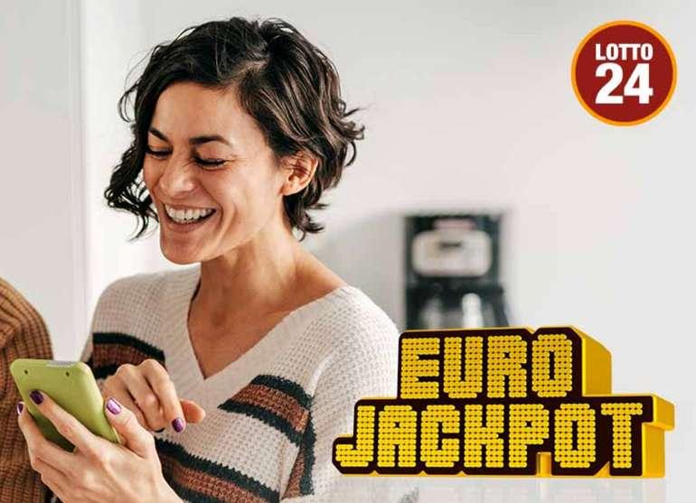 Lotto24: 48 Mio. Euro im Eurojackpot - 3 Felder EuroJackpot für 2,60€ (statt 7€) - Für Neukunden!