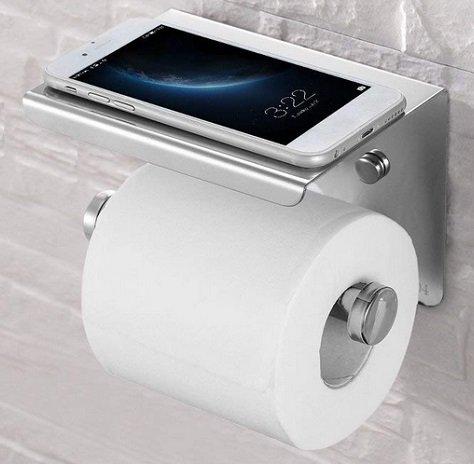 Esonmus Toilettenpapierhalter mit Saugnapf (ohne Bohren) für 7,94€ mit Prime