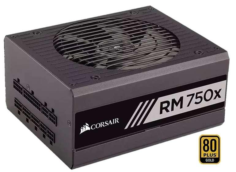 Corsair RM750x: PC-Netzteil (2018, Voll-Modulares Kabelmanagement, 750W) für 90,29€ (statt 100€) - Newsletter