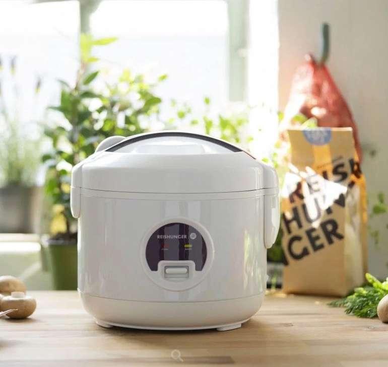 Elektrischer Mini Reiskocher (0,6 Liter, 300 Watt) + 200g Jasmin Reis, Reisbesteck & Reisverschluss für 10,49€