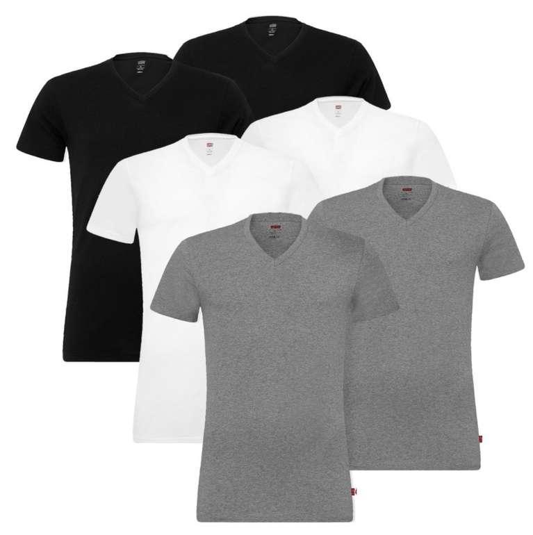 4er Pack Levis Herren V-Neck T-Shirts für 36,99€ inkl. Versand (statt 42€)