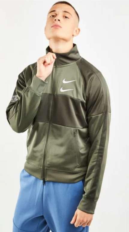 Nike Swoosh Poly Knit Herren Track Top in Oliv oder Schwarz für 31,99€inkl. Versand (statt 55€)