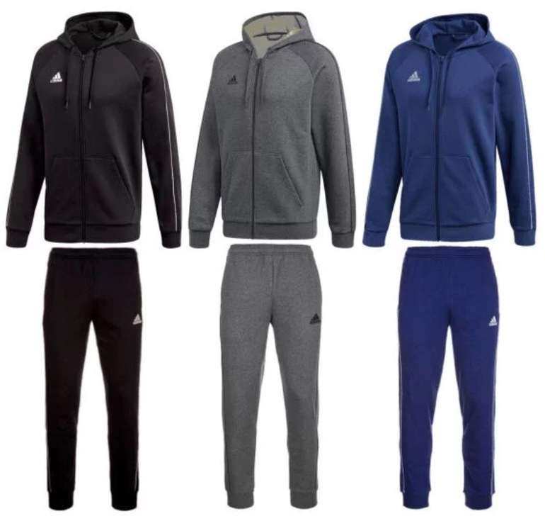 Adidas Core 18 Jogginganzug (versch. Farben) für je 42,95€ inkl. Versand (statt 54€)