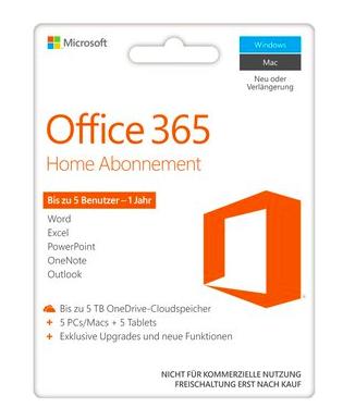 Preisfehler bei Euronics: Microsoft Office 365 Home - Product Key Card für 0,99€